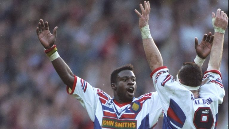 Martin Offiah: Scored a try in Great Britain's 33-10 success over Australia in 1992