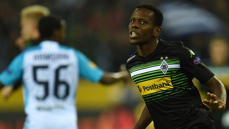 Traore: Scored twice for Monchengladbach