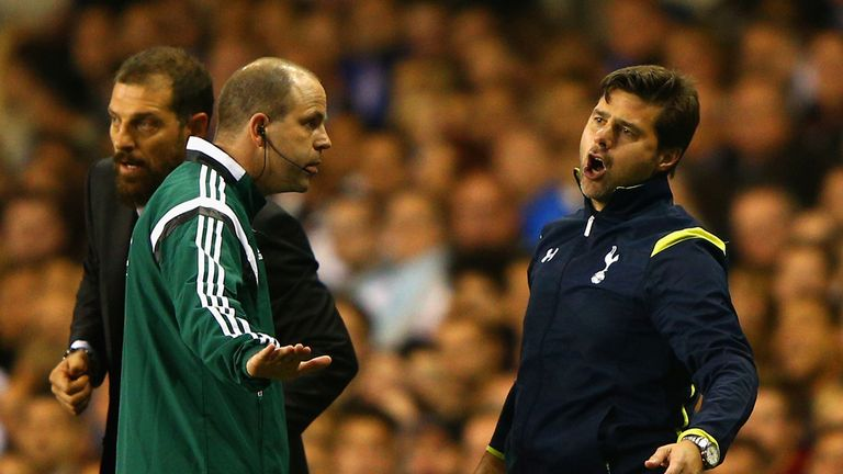 Mauricio Pochettino: Shows his frustration