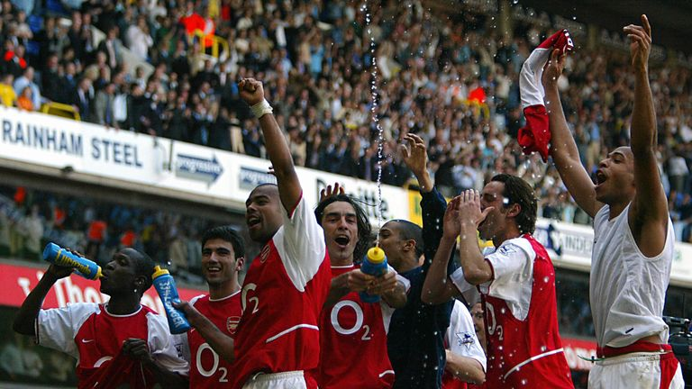 And April ended in the dream scenario for every Gunner. A 2-2 draw at White Hart Lane sealed the title at Spurs, with the unbeaten record still intact.