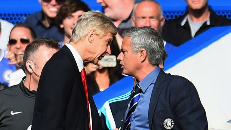 Arsene Wenger and Jose Mourinho clash