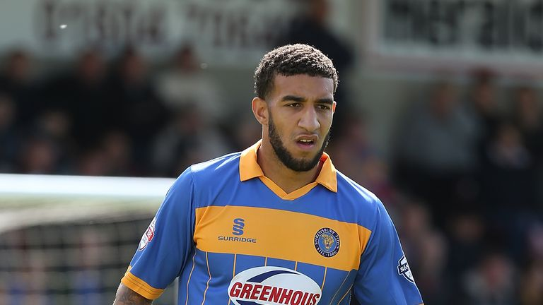 Connor Goldson of Shrewsbury Town in action