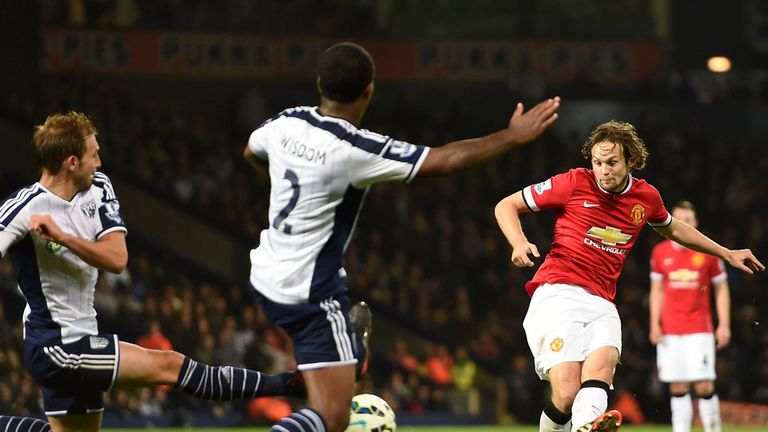 Manchester United's Daley Blind scores