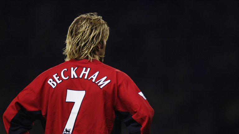 David Beckham: Wore United's No 7 shirt for six years