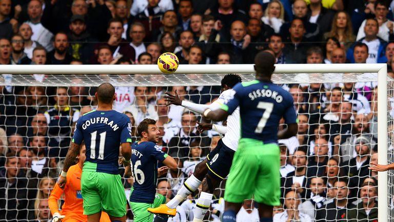 Emmanuel Adebayour headed Tottenham in front