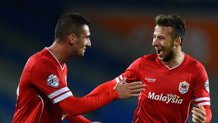 Adam Le Fondre (R): Handed Cardiff City victory at Watford