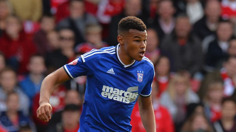 NOTTINGHAM, ENGLAND - OCTOBER 05:  Tyrone Mings of Ipswich Town during the Sky Bet Championship match between Nottingham Forest and Ipswich Town at City Gr