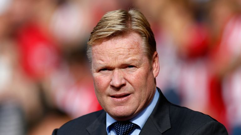 Ronald Koeman watches his side run riot with an eight-goal demolition