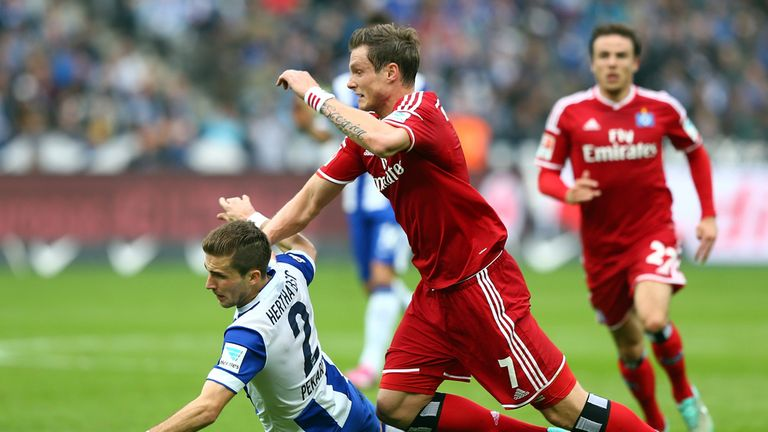 Marcell Jansen (right): Was on the scoresheet for Hamburg