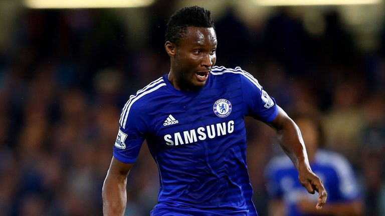 Jon Obi Mikel in action for Chelsea