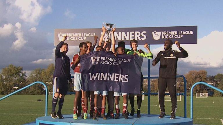 West Ham celebrate their Premier League Kicks success