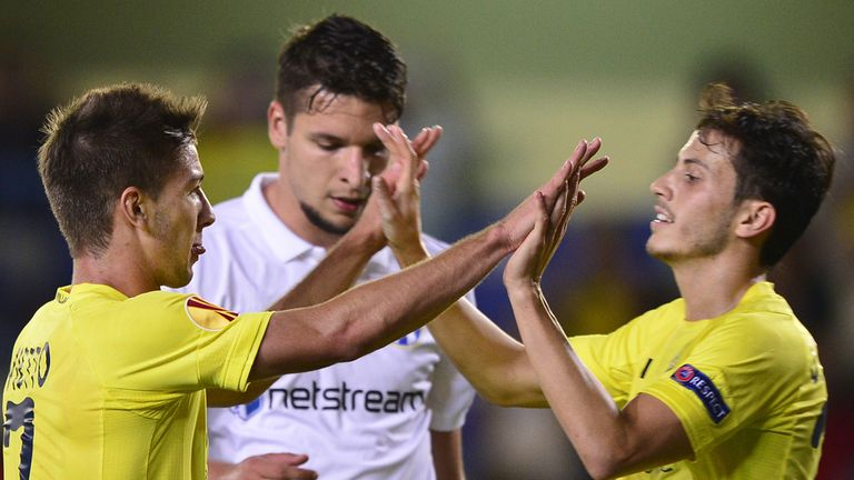 Luciano Vietto netted twice for Villarreal