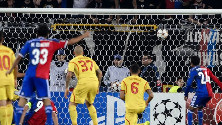 Basel captain Marco Streller fires the only goal of the game shortly after the break.
