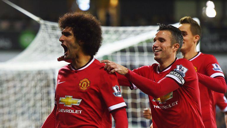 Marouane Fellaini of Manchester United celebrates