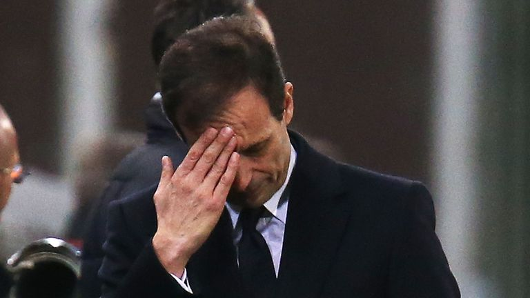 Massimiliano Allegri: Bemoaned late lapse in concentration