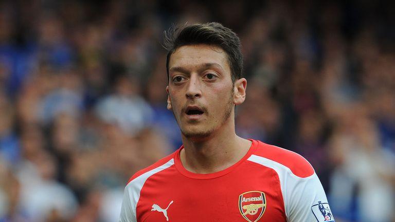 Mesut Ozil Arsenal at Stamford Bridge on October 5, 2014 in London, England.