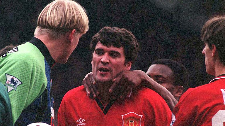 Schmeichel had a fiery relationship with Roy Keane at Manchester United