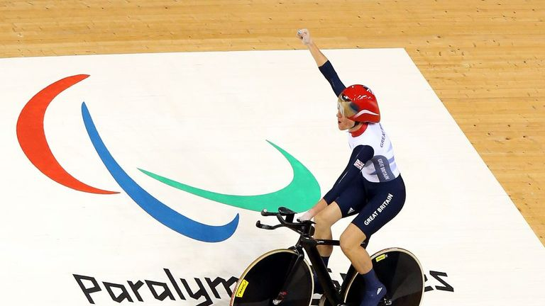 Storey switched to cycling in 2005 and has since won nine more Paralympic gold medals in Beijing, London and Rio