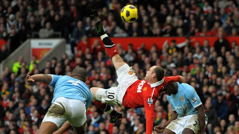 12/2/11 - United 2 City 1: Once voted the best goal in Premier League history, Rooney's incredible late overhead kick also inspired Utd to the title.