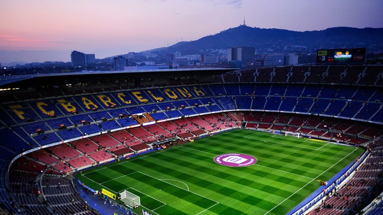 The Nou Camp has a capacity of 98,000