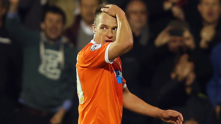 Tony McMahon: Saw red in Blackpool's draw at Fulham