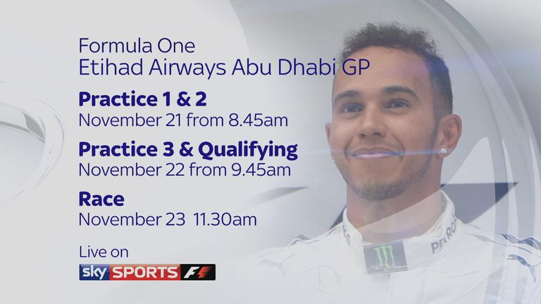 Don't miss the Abu Dhabi GP on Sky Sports F1