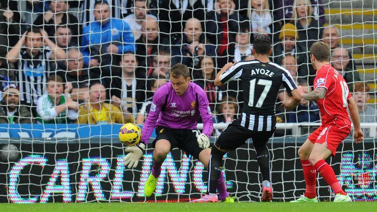 Ayoze Perez: Fires Newcastle ahead past Mignolet