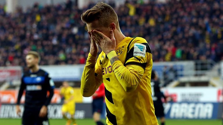 Marco Reus: Celebrates his goal before being injured