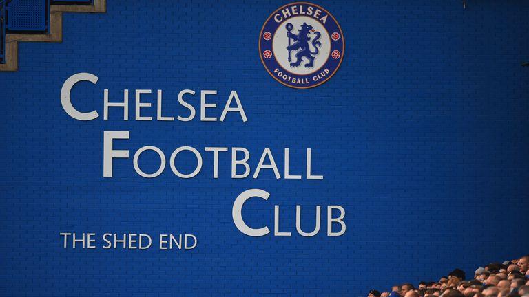 Chelsea fans look on