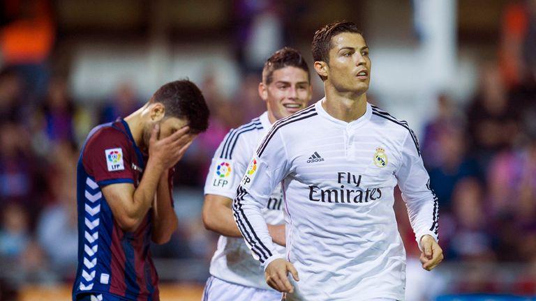 Cristiano Ronaldo of Real Madrid celebrates