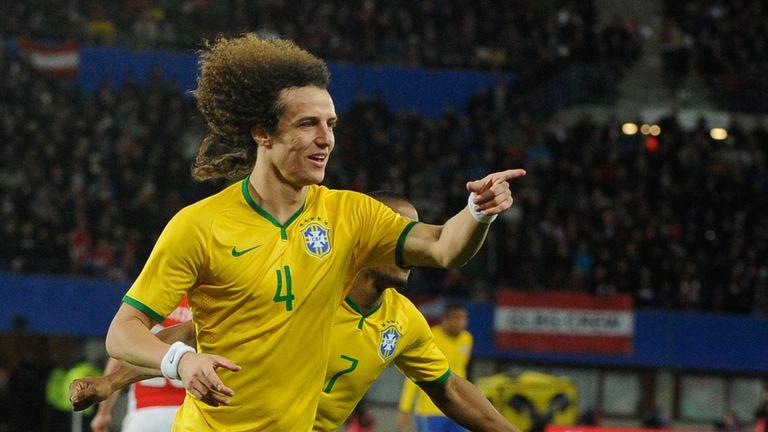 Brazil's defender David Luiz