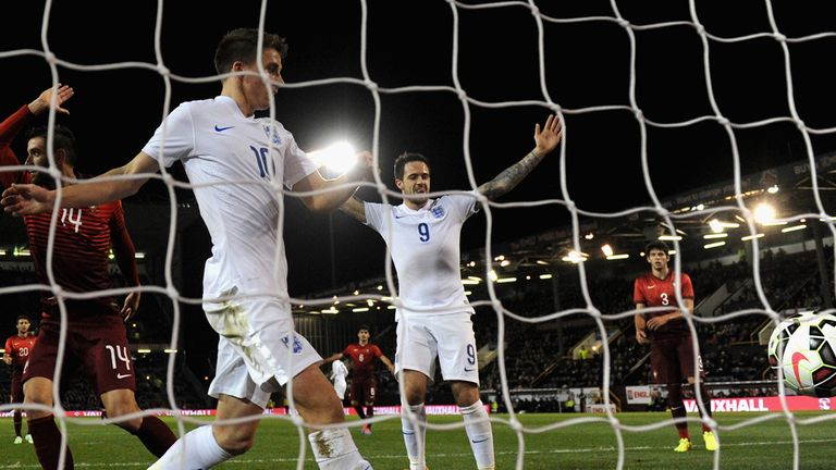 Danny Ings: Celebrates his second goal