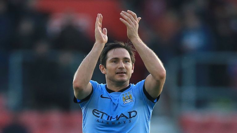 Frank Lampard: Midfielder staying on at Manchester City