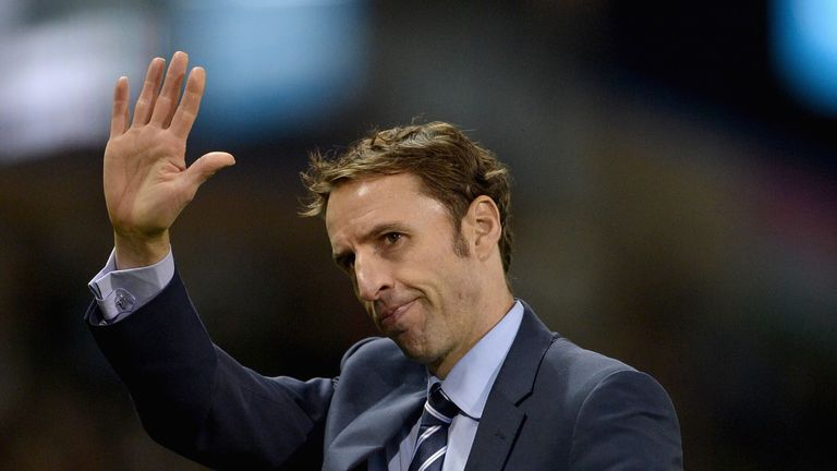 Southgate: Waves to the Turf Moor crowd