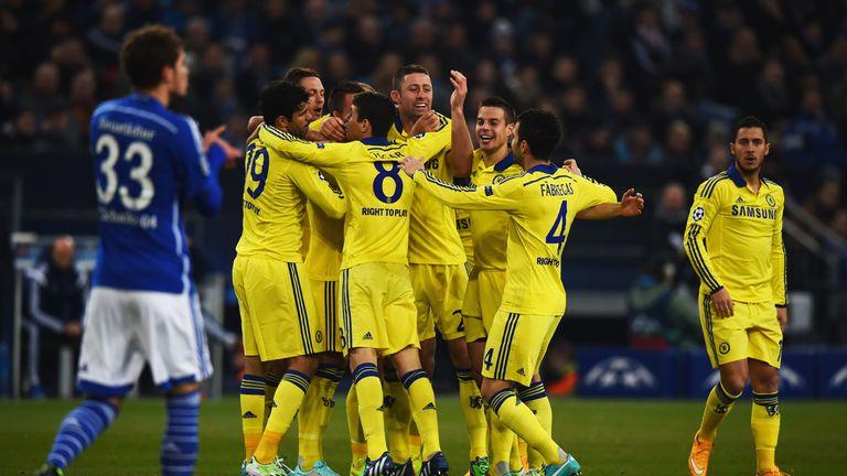 Terry celebrates scoring Chelsea's opener