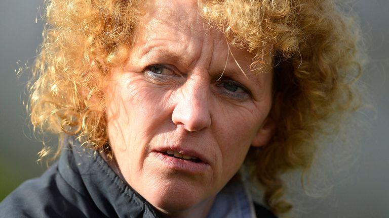 Lucinda Russell poses at Carlisle