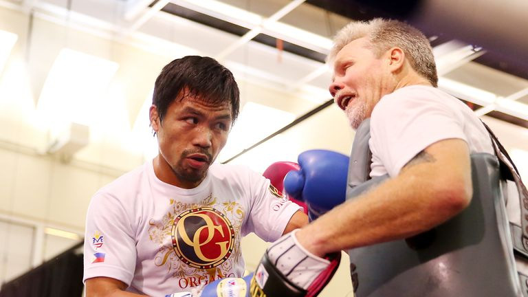 Manny Pacquiao: Has begun training for the fight with Mayweather