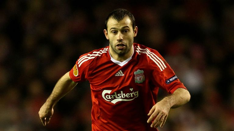 Mascherano played for Liverpool between 2007 and 2010