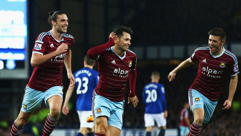 Mauro Zarate equalised for the Hammers
