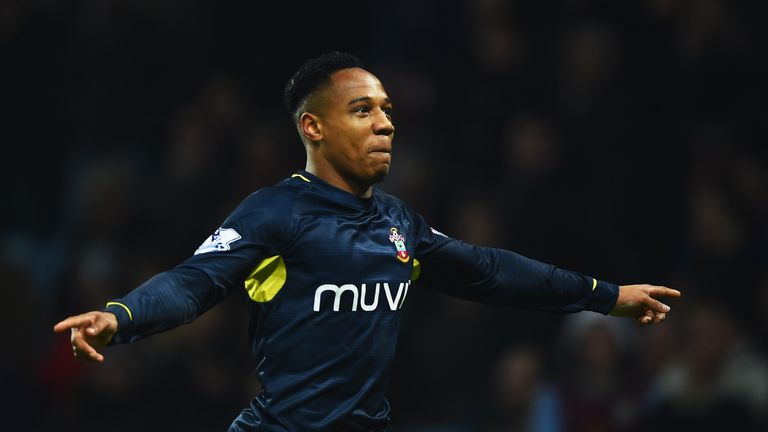 BIRMINGHAM, ENGLAND - NOVEMBER 24:  Nathaniel Clyne of Southampton celebrates as he scores their first and equalising goal during the Barclays Premier Leag