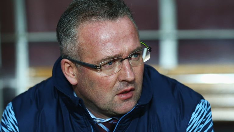 Paul Lambert manager of Aston Villa looks on from the bench prior to the Barclays Premier League match between Aston Villa and Southampton