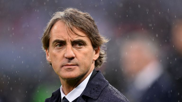 Former Manchester City manager Roberto Mancini