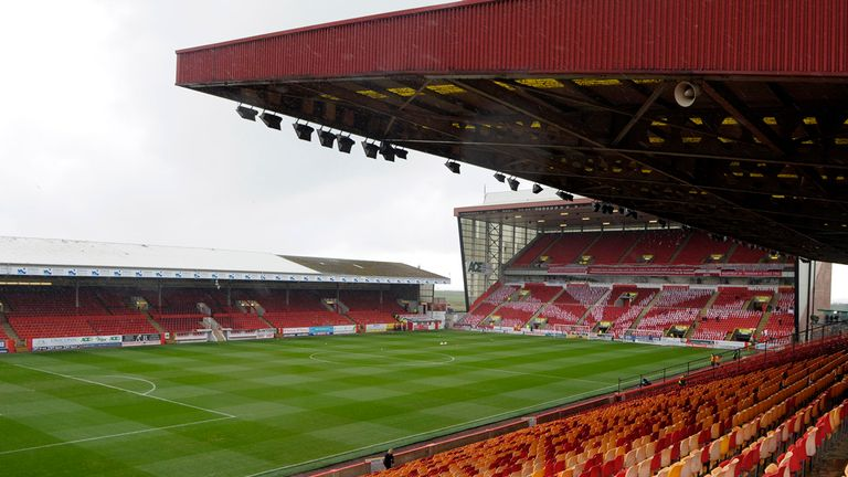 A general view of inside Pittodrie