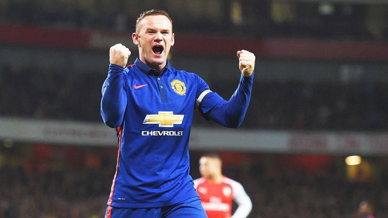 Wayne Rooney punished Arsenal when the teams met at the Emirates Stadium