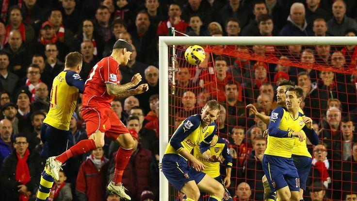 Martin Skrtel heads home Liverpool's equaliser