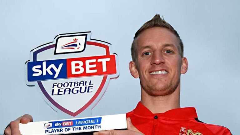 Carl Baker: Sky Bet League 1 Player of the Month for November