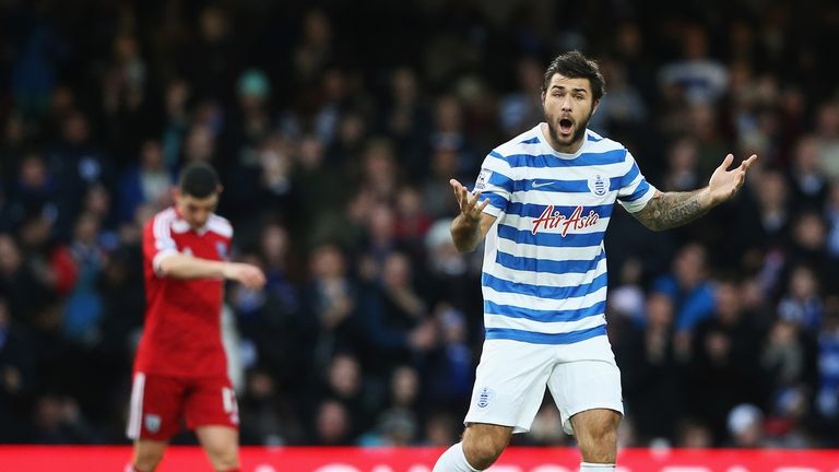 LONDON, ENGLAND - DECEMBER 20: Charlie Austin of QPR celebrates his goal during the Barclays Premier League match between Queens Park Rangers and West Brom
