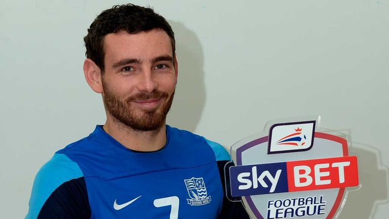 David Worrall: Sky Bet League 2 Player of the Month for Novembern