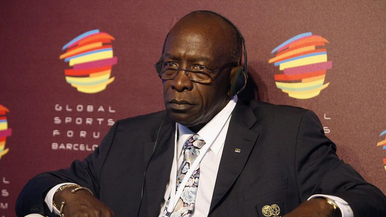 Trinidad and Tobago's Jack Warner, FIFA Vice President and CONCACAF President, attends the Global Sports Forum on February 26, 2009 in Barcelona. The Globa