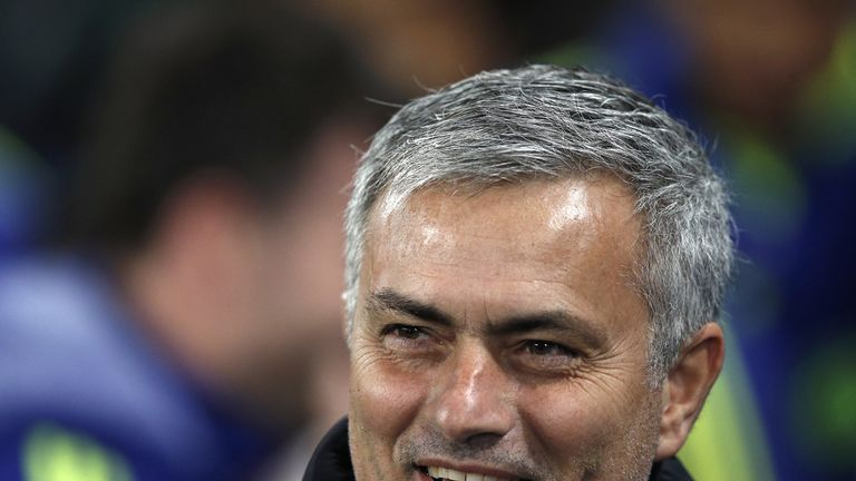 Jose Mourinho was all smiles before already-qualified Chelsea took on Sporting